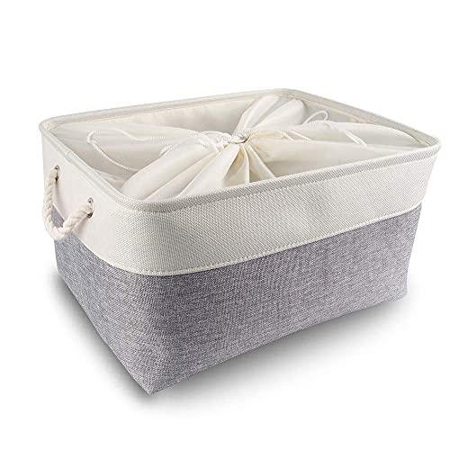Mangata Caja de Almacenamiento Ropa, cestas de almacenaje Tela, Plegable Cajas organizadoras...
