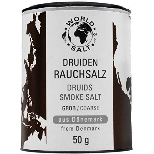 Pepperworld Druiden Rauchsalz, grobes Meer-Salz aus Dänemark, Rauch-Salz in grober Körnung, mild-würzig mit rauchigem Geschmack, 50 g