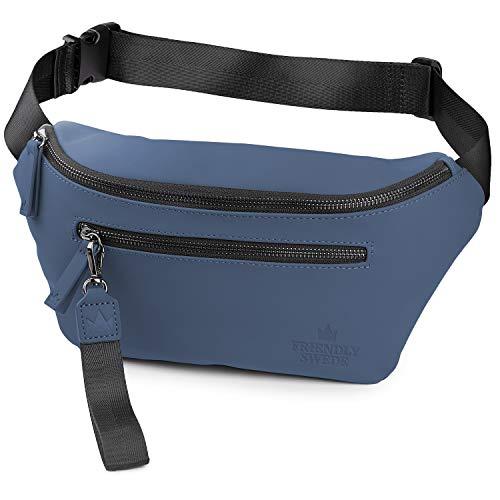 北欧デザインブランド「The Friendly Swede」VRETA ウエストバッグ ボディバッグ ベルトバッグ 旅行バッグ 調節可能ベルト ショルダーポーチ ワンショルダーバッグ アーバンストリートスタイル (ブルー)