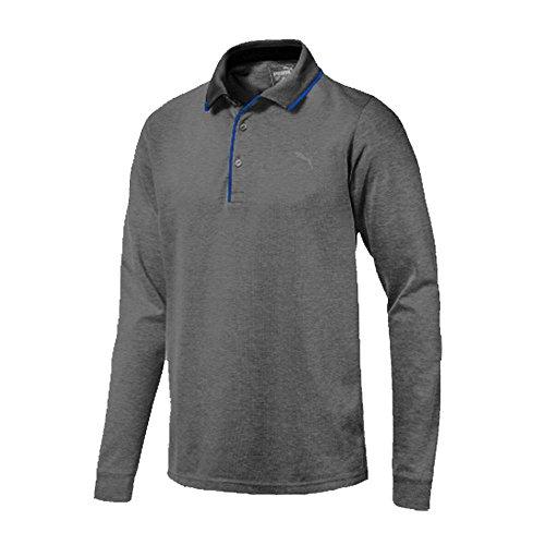 Puma Golf 2017 Men's Tailored Longsleeve Polo, Puma Black, Large