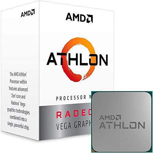 AMD Athlon 200GE 3.2GHz 4MB L3 Caja - Procesador (AMD Athlon, 3,2 GHz, Zócalo AM4, PC, 14 NM, 200GE)