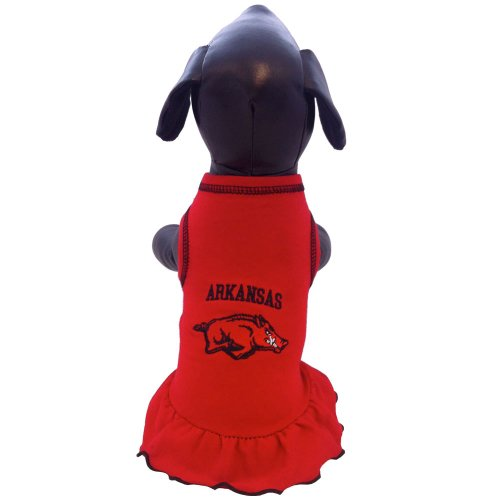 All Star Dogs Unisex-Erwachsene NCAA Arkansas Razorbacks Cheerleader Dog Dress Armbrust-Paket, Teamfarbe, Small