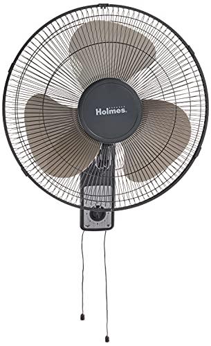 HOLMES Oscillating Wall-Mountable Fan, 16 Inch (HMF1611A-UM),Black