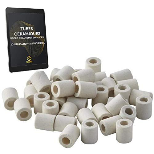 Perle Keramik EM Set 25 x Röhrchen für Mikroorganismen, effizient, natürlicher Ton, Filter-Set für 2 Flaschen, Glas, Karaffen, Wasserkocher, Wasserspeicher, japanische Kaffeemaschine