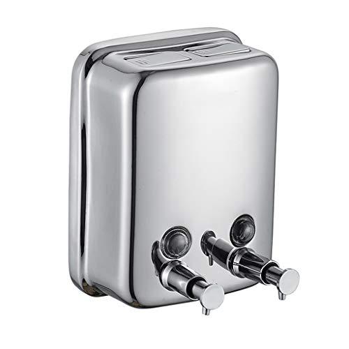 1500 ML Handmatige Pomp Zeep Dispenser, RVS Muur Gemonteerd Vloeibare Zeep Lotion Dispenser Voor Badkamer Keuken Thuis Hotel School