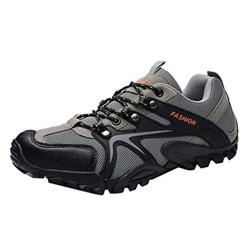 EMMM Herren rutschfeste Wanderschuhe Atmungsaktives Mesh-Schuhe Wandern Freizeitschuhe Turnschuhe Outdoor Schuhe Laufschuhe Sportschuhe Flache Leichte Sneakers