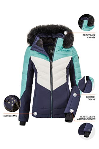 Girls 34167-000 killtec Narissa Jr Girls Functional Winter Jacket with Hood 10,000 mm Water Column Waterproof