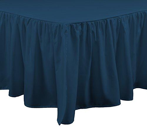Brielle Stream Bettvolant, Weiß Bettüberzug Twin blaugrün