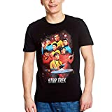 Star Trek Camiseta para Hombre Enterprise Crew Cotton Black - M