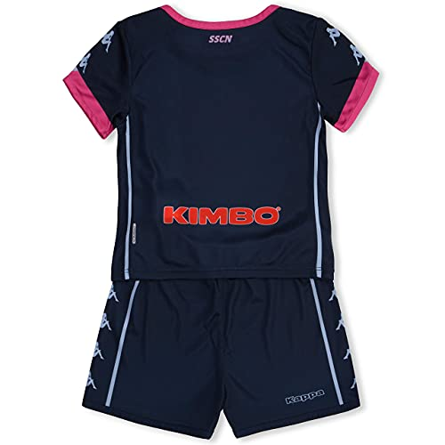 SSC NAPOLI Kit Gara Baby Third 2020/21 Kit de Carreras Baby Third 2020/21 Unisex – Niños, Unisex niños, 31129HWCNAA04, BLU Scuro - Rosa, 6 MESI