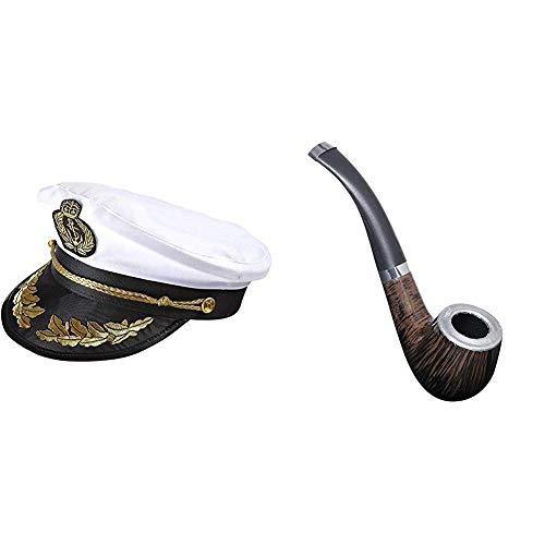 Widmann 0186S Luxushut Kapitän & Tabak Pfeife Attrappe