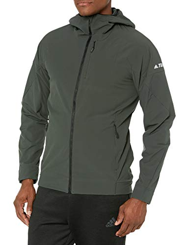 adidas outdoor Herren Hi-Loft Softshell Jacke Legend Earth Small