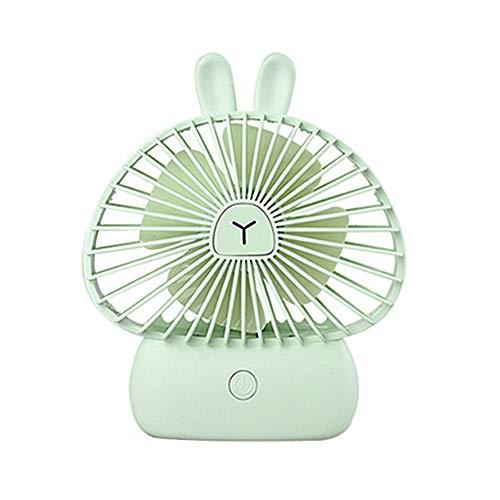 Jjoer Ventilador PequeñO Mesa Ventilador USB Silencioso Ventilador Escritorio Ventilador Iluminado Aspas Ventilador Ventiladores EléCtricos para Salidas De Picnic Rabbit&Green