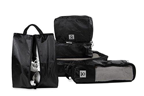 HAUPTSTADTKOFFER - Packhilfe – Koffer Organizer Set 5-teilig, 3 multifunktionale Organizer-Taschen Packtaschen (S, M, L), Kosmetiktasche, Schuhtasche