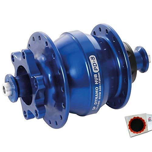 Shutter Precision Nabendynamo PD-8 32L. blau blau 112232023 +Flicken