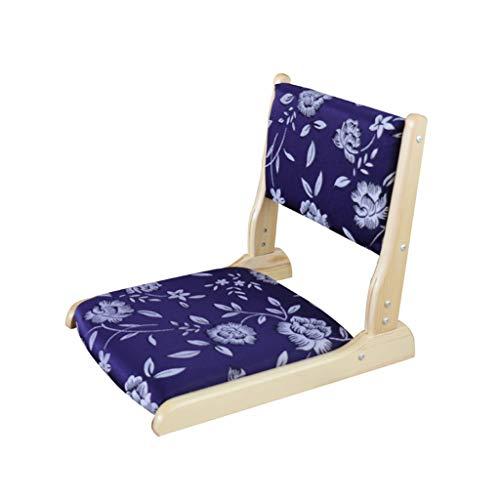 Chaise pliante Chaise de plancher Coussin Dossier Balcon Salon (non amovible) (Couleur : C)