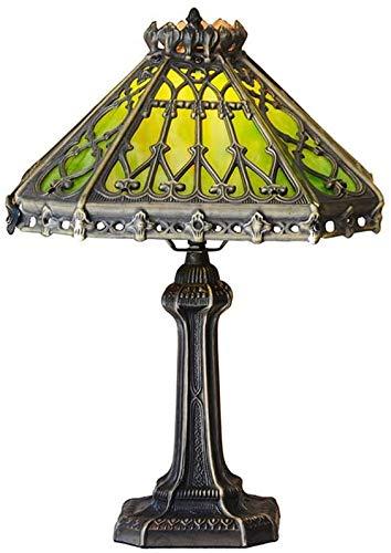 DIMPLEYA Lámpara Tiffany Lámpara De Mesa Tiffany Lámpara De Cabecera De Dormitorio Cuadrada Lámpara B Estar Decoración Clásica (Color: Europeo -a Palacio De Sala Estudio