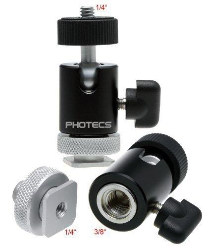 Photecs® Mini Stativkopf Pro, CNC-gefertigter Kugelkopf mit Stahlkern (Mini Ball Head), 3/8