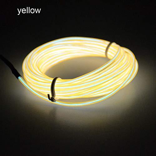 Flexibles LED Licht EL Draht Schnur Streifen Seil Glühen Dekor Neonlampe USB Controlle, QHJ Deko Weihnachten (F)