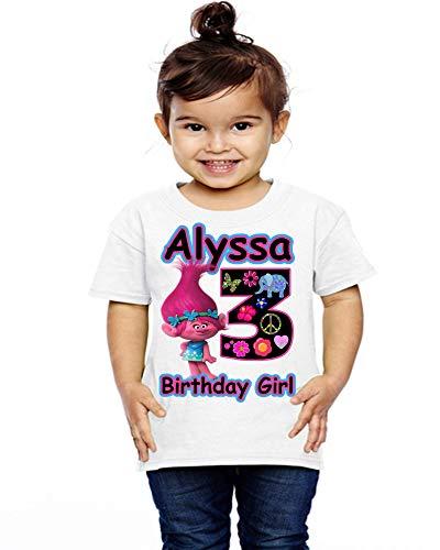 Princess Poppy Troll Poppy Troll Top Trolls Birthday Top First Birthday Shirt First Birthday Raglan One Birthday Outfit Birthday Girl