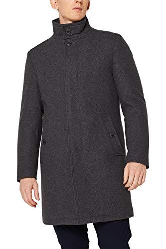 ESPRIT Herren 109EE2G003 Mantel, Grau (Grey 030), Large (Herstellergröße: 50)