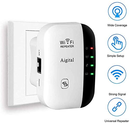 Aigital WiFi Extender, 2.4G Wireless Internet Booster for...