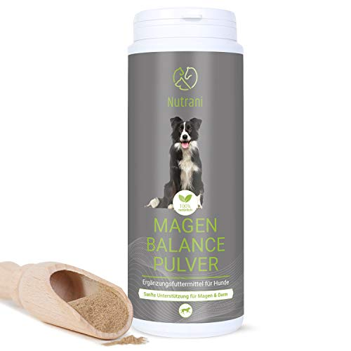 Nutrani Magen Balance Pulver für Hunde| 250g – 100% natürliches Magenpulver mit wertvollen Gerb- und Bitterstoffen zur sanften Unterstützung bei Übersäuerung des Magens und Verdauungsbeschwerden