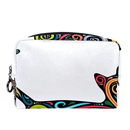 Sirena (7.3 x 3 x 5.1 pulgadas) bolsa de cosméticos portátil resistente al agua Herramientas de maquillaje Bolsas Organizador