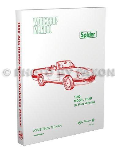 1990 Alfa Romeo Spider Repair Shop Manual Graduate Veloce Quadrifoglio