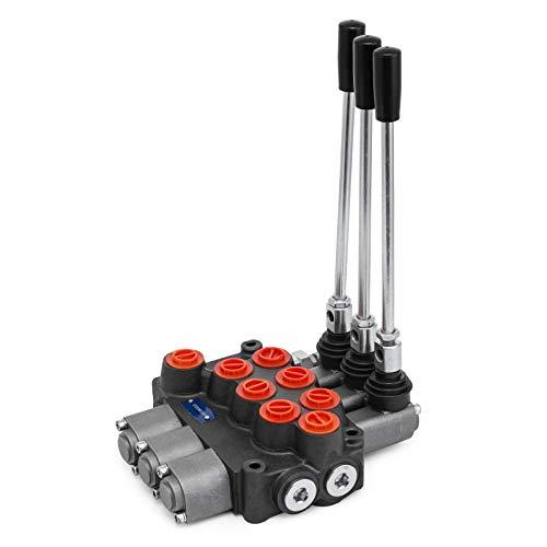 OldFe 3 Spool Hydraulikventil Handhebelventil 8 GPM valve adjustable 15 lb Hydraulische Ventil