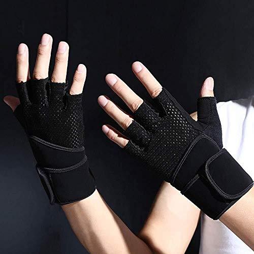 Guantes casuales Guantes de fitness equipo de hombre entrenamiento guantes de pulsera antideslizantes ropa deportiva delgada bicicleta con mancuernas barra horizontal deportes guantes de medio dedo fe