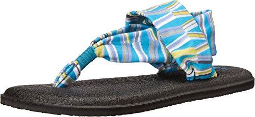 Sanuk Women's Yoga Sling 2 Prints Sandals Blue/Green Mod Geo 6