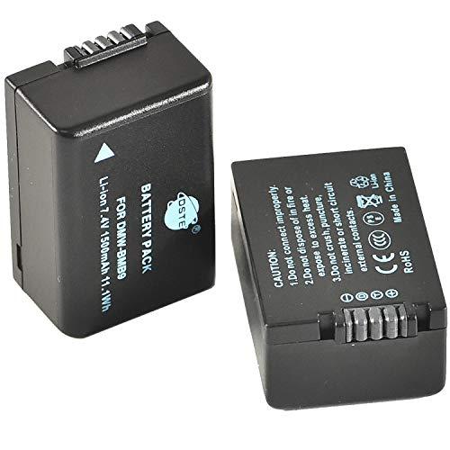 DSTE - Batería de repuesto para cámaras digitales Panasonic DMW-BMB9, DMW-BMB9PP y Lumix DMC-FZ40, DMC-FZ45, DMC-FZ47, DMC-FZ48, DMC-FZ60, DMC-FZ62, DMC-FZ70, DMC-FZ72 (2 unidades)
