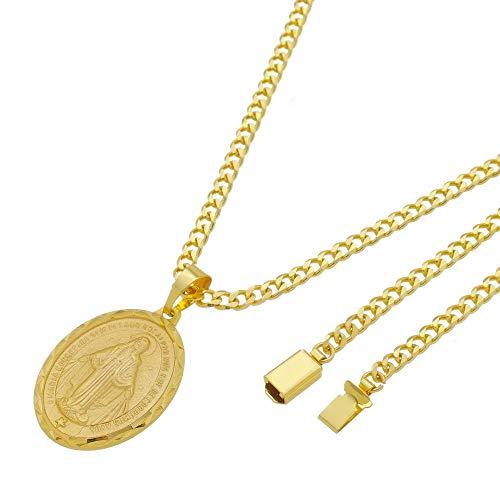 Medalha Nossa Senhora das Graças com Corrente 5mm Grumet Gaveta