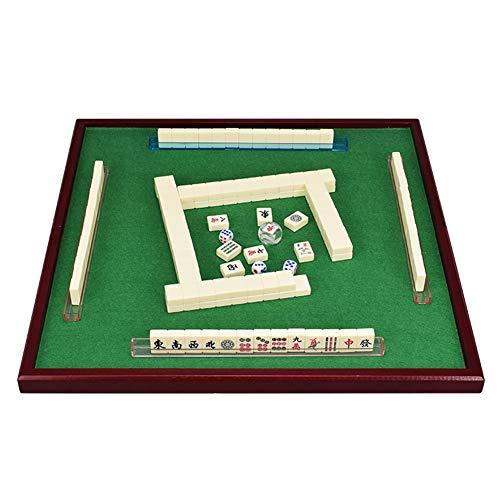 ZYF Mahjong Set Mahjongg Mini 144 Mahjong Fliesen Set Reisetafel Spiel Chinesische traditionelle Mahjong-Spiele, tragbare Größe und leichtes Gewicht (Color : Ivory)