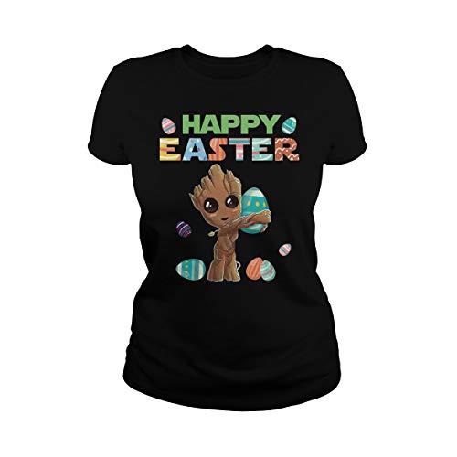 TeeWarrior Happy Easter Baby Groot Hug Egg-Cellent Egg Hunter Camiseta
