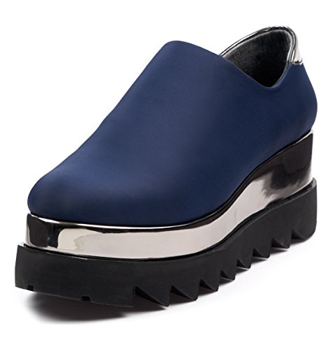 BOBERCK Roxie Collection Women's Fashion Platform Sneakers (5 US, Navy)