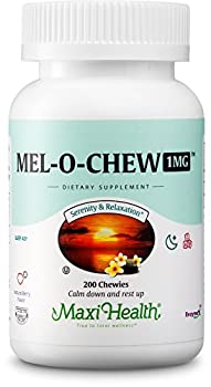 Mel-O-Chew Melatonin for Kids – 1mg Chewable Sleep Aid Tablets - Natural Supplement for Children and Adults - Helps Fall Asleep Faster and Stay Sleeping Longer – 200 Count