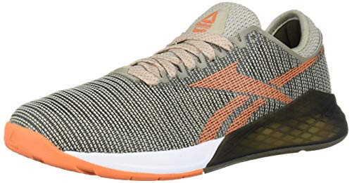 Reebok Women's Nano 9 Cross Trainer, Light Sand/Army Green/Fiery Orange, 5 M US