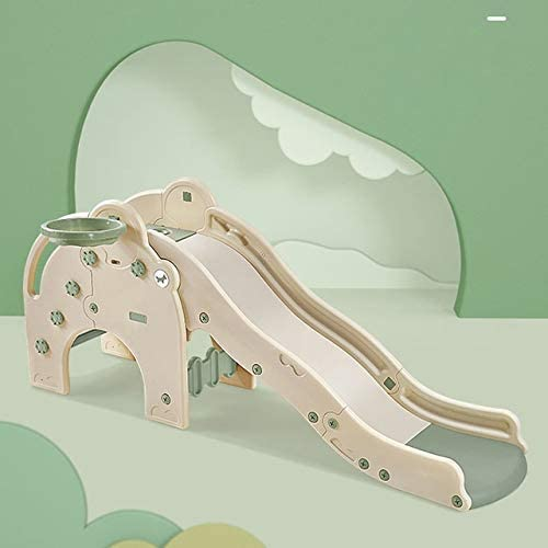 WUTONG Baby Slide with Basketball Hoop Children Indoor Safety Sl