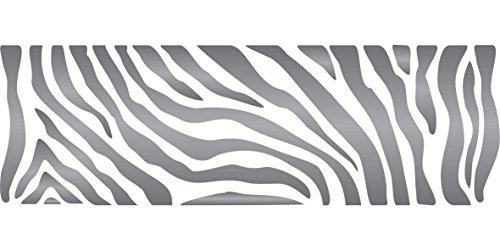 Zebra streifen Schablone–wiederverwendbar African Animal Wildlife Bordüre Schablonen für Malerei–zur Verwendung auf Papier Projekte Scrapbook Tagebuch Wände Böden Stoff Möbel Glas Holz usw. m