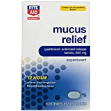 Rite Aid 12 Hour Mucus Relief Expectorant with Extended Release, 600 mg - 20 Tablets | Decongestant for Adults | 12 Hour Relief