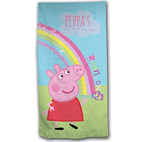 Peppa Pig Girls Towel Rainbow