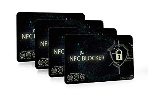 NFC Blocker I RFID Blocking Card I für EC-Karten, Kreditkarten, Ausweise (8 Stück)