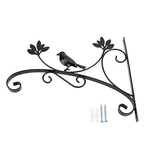 Suporte para ganchos de flores, suporte de ferro para pendurar paredes de plantas Gancho para vasos de flores para decoração de jardins domésticos