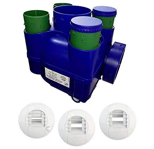 Kit VMC simple flujo higrorregulable – Hydra Ecowatt