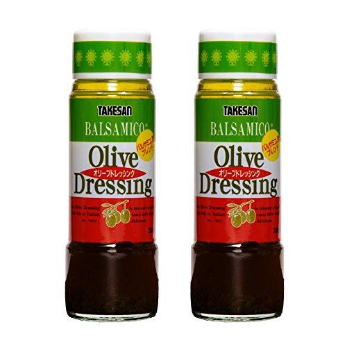 [タケサン] イタリア風 オリーブ ドレッシング 200ml×2本 芳香性豊かなバルサミコ酢使用 ×2本