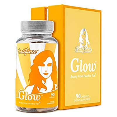 GLOW by Califina - Hair Skin & Nails Vitamin & Antioxidant Beauty Supplement - Cleanse, Detox & Repair from The Inside Out - for All Ages, Hair & Skin Types - with Biotin, MSM, Collagen - 30 Servings