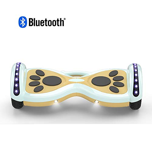 Hoverboard Elektro Skateboard Selbst Balancing Hoverboard for Kinder, Luminous Räder, Connect Bluetooth Musik zu Spielen, Laden des 150kg, Höchstgeschwindigkeit 20 km/h, maximale Laufleistung ca. 35