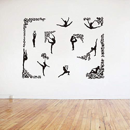 Lglays Adhesivo decorativo para pared, diseño de mandala, ideal para yoga, loto, meditación, decoración del hogar, mural de 58 x 78 cm